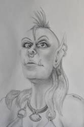 Tharad, orc female warrior WoW by roseleseach