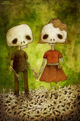 skeleton love by berkozturk