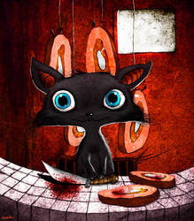 butcher's cat by berkozturk