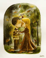 watercolor dreams by berkozturk