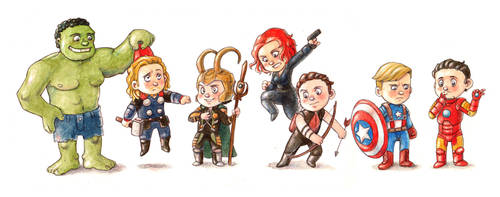 The Avengers by Gigei