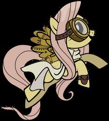 Steampunk Fluttershy by Mowza2k2