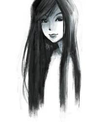 Girl In Grey-Blue by renKa002
