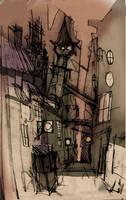 Melancholy Street by hungerartist
