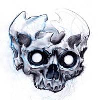 Skulls sketch by Uken