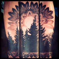 Trees and Mandala by Uken