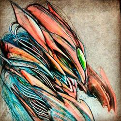 Mecha sketch by Uken