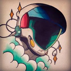 Gundam Flash painting by Uken