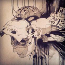 Ghost in the Shell fan art painting by Uken