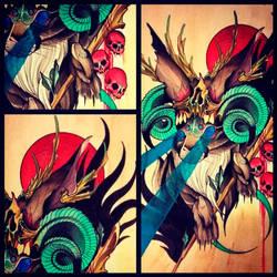 Wizard Jackalope Painting by Uken