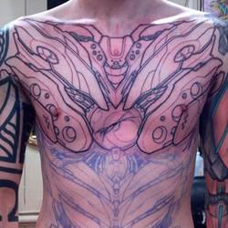 Mecha Eva-Inspired chest piece wip by Uken