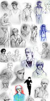 Sketch Dump - Of Boys and Men by whimsycatcher