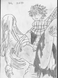 Fairy Tail - Natsu and Erza by Orelh