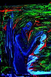 The Blue Fairie (Blacklight) by powerofwhy