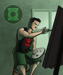 Kyle Rayner - Painting by micahdraws