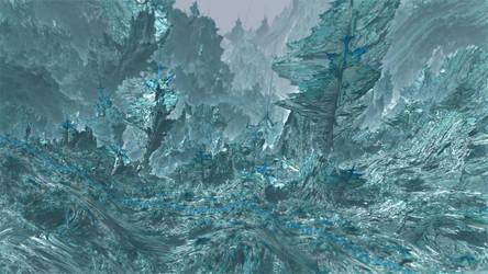 Frozen Mandelbulb by KrzysztofMarczak