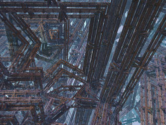 IFS fractal 10 by KrzysztofMarczak