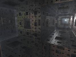 Menger sponge with reflections by KrzysztofMarczak