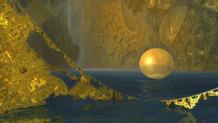 Golden Sphere by KrzysztofMarczak