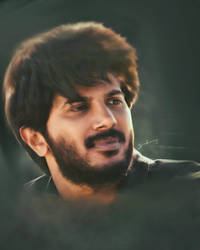 Dulquer Salmaan Smudge Painting by Subinraj