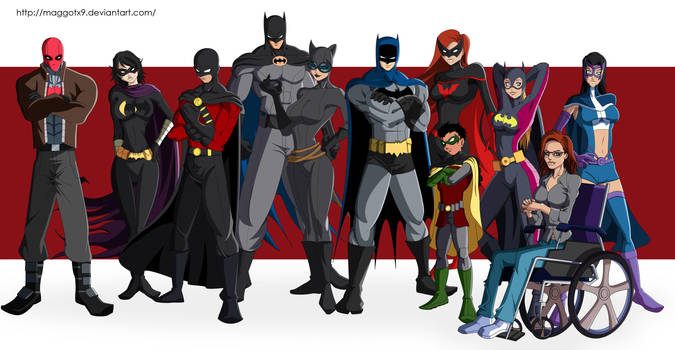 Bat Family by Maggotx9