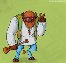 Fernando, the Hippie Bison by PedrAntunes