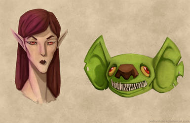 An Elf and a Goblin by PedrAntunes
