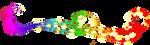 Peacock Silhoette(rainbow) by PrePAWSterous