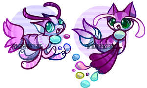 :500 points Squeedles Adoptables(open): by PrePAWSterous