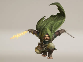 Halfling Rogue Commission by Asfodelo