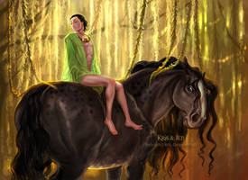 Svadilfari and Loki by jen-and-kris