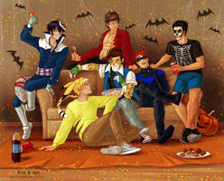 Commission. Halloween by jen-and-kris