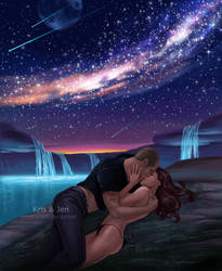 Commission. Night sky by jen-and-kris