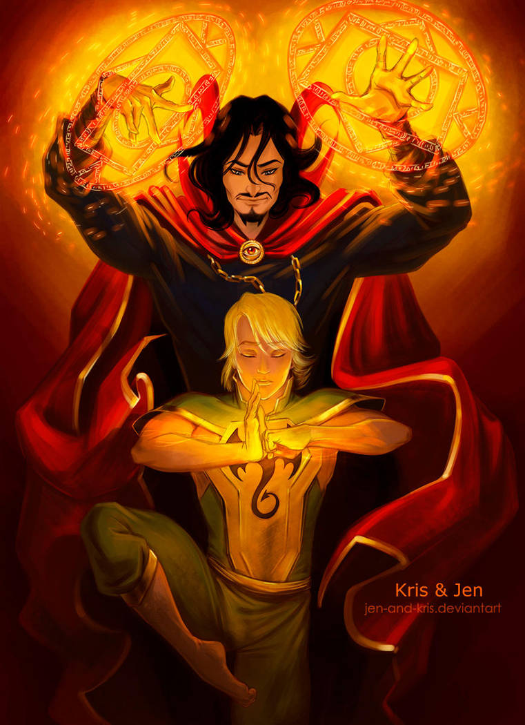 Dr.Strange and Danny by jen-and-kris