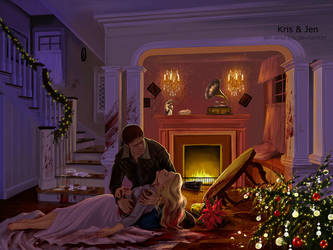 Commission. Christmas Eve by jen-and-kris