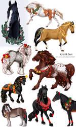 Commission.Horse Christmas Dekor by jen-and-kris