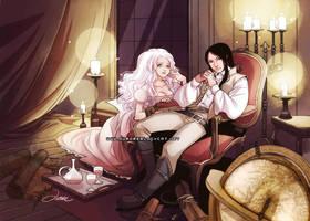 Selene and Morgan by auroreblackcat