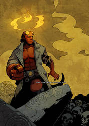 Hellboy -for Zabalou- by auroreblackcat