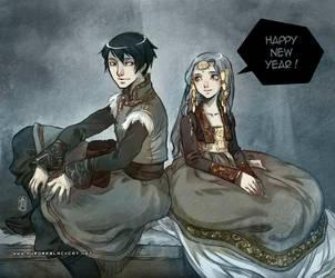 Happy New Year 2012 by auroreblackcat