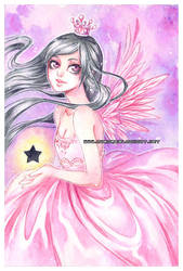 Black star -watercolors- by auroreblackcat