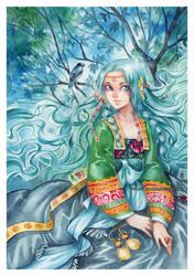 Lynette -watercolors- by auroreblackcat