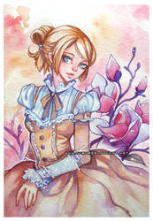 Elinor -watercolor- by auroreblackcat