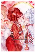 Twins -watercolors- by auroreblackcat