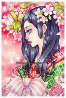 sakura -watercolors- by auroreblackcat