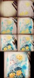 Pivoines step-by-step by auroreblackcat