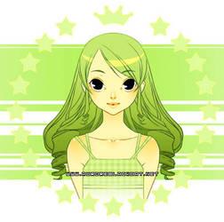 Green Mug - girl version - by auroreblackcat