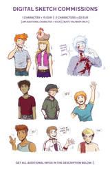 Digital Sketch Commissions! by kfcomics