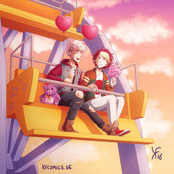 Alek and Levi - Valentine's Date (Trash Canon) by kfcomics