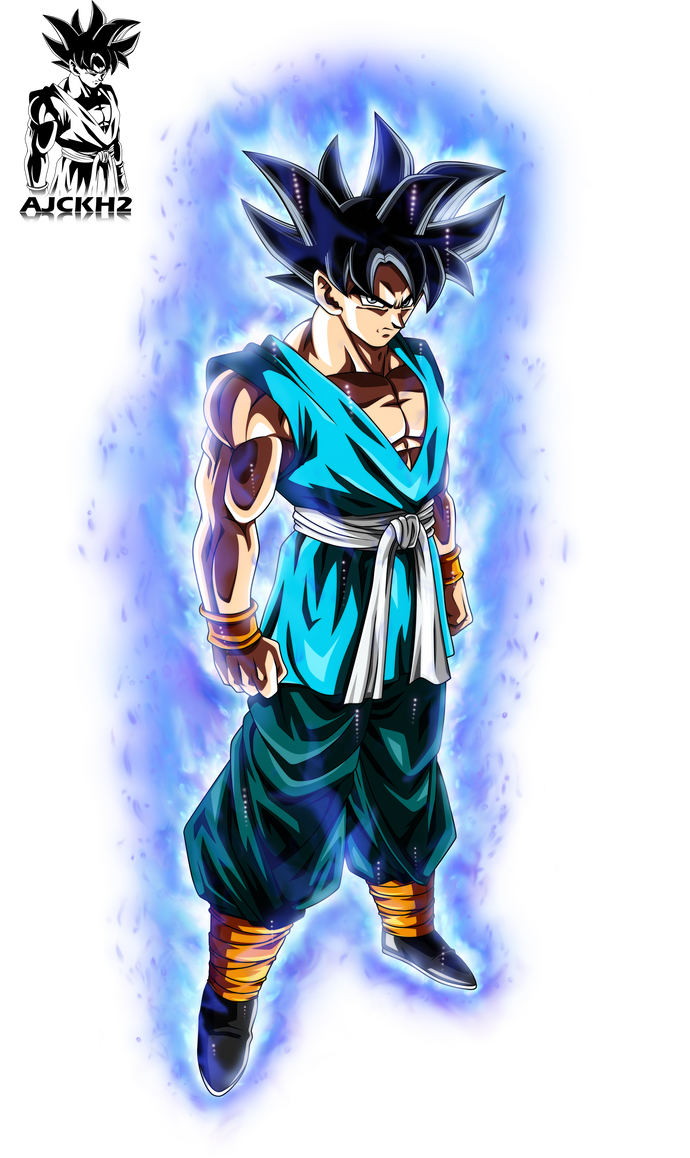 Son Goku Ultra Instinct with Aura by ajckh2 on DeviantArt