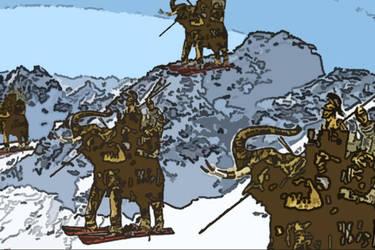 Elephants Skiing by warriorvegalovestar